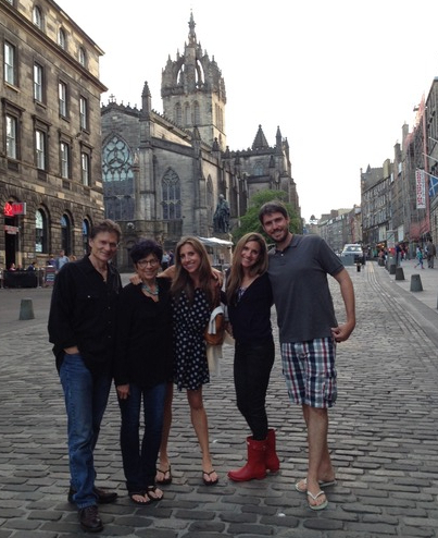 Family in Edinburgh